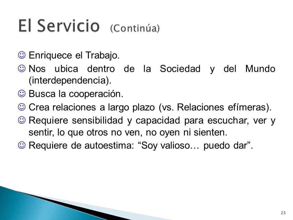 El Servicio (Continúa)