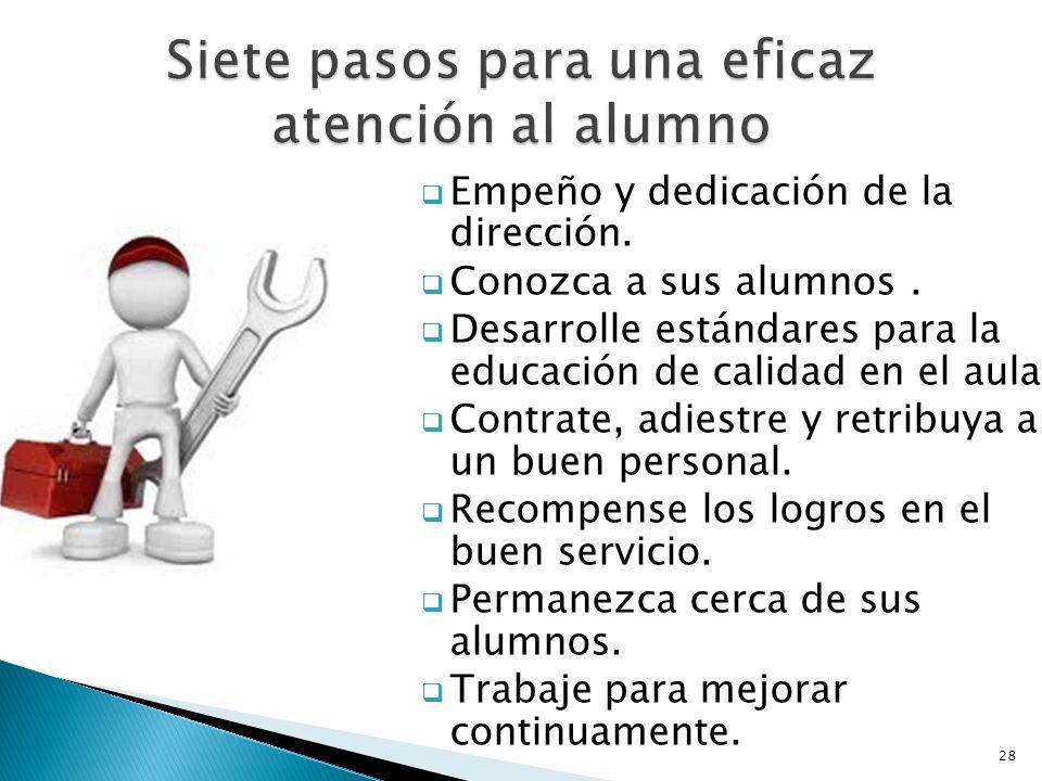 Siete pasos para una eficaz atención al alumno