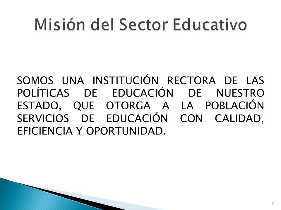 Misión del Sector Educativo
