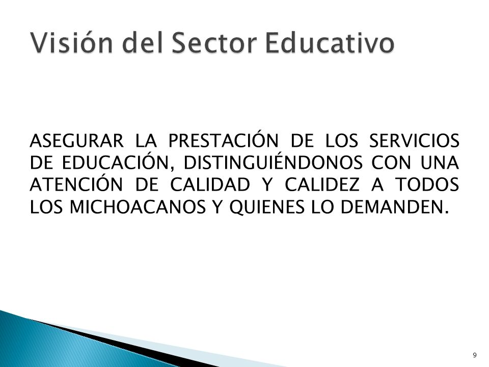 Visión del Sector Educativo