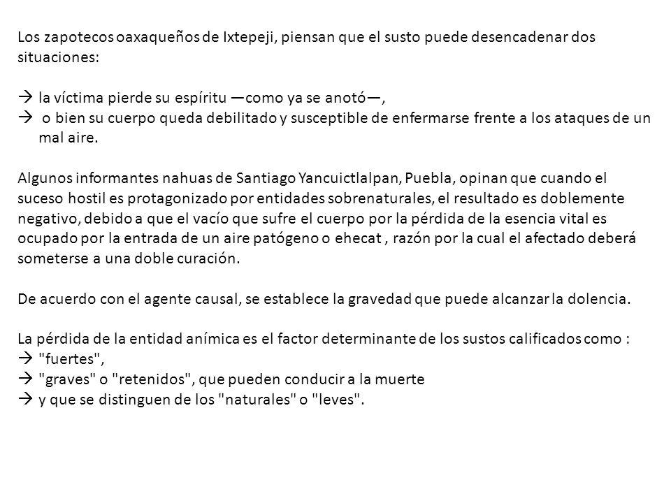 Los zapotecos oaxaqueños de Ixtepeji, piensan que el susto puede desencadenar dos situaciones: