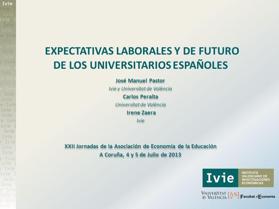 EXPECTATIVAS LABORALES Y DE FUTURO DE LOS UNIVERSITARIOS ESPAÑOLES