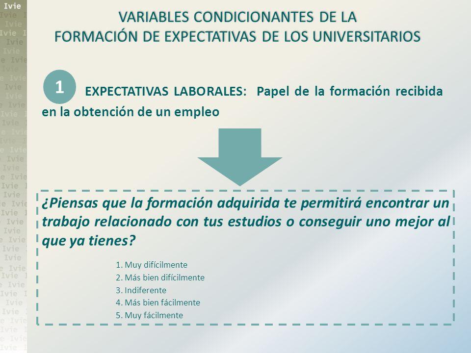 1 VARIABLES CONDICIONANTES DE LA