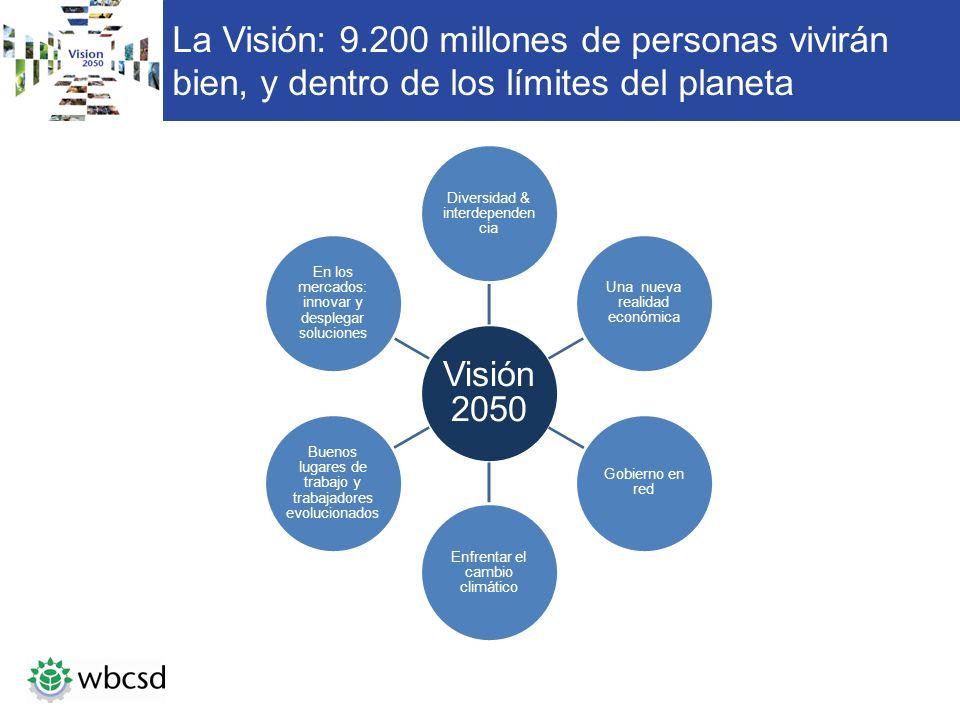 La Visión: 9.200 millones de personas vivirán bien, y dentro de los límites del planeta