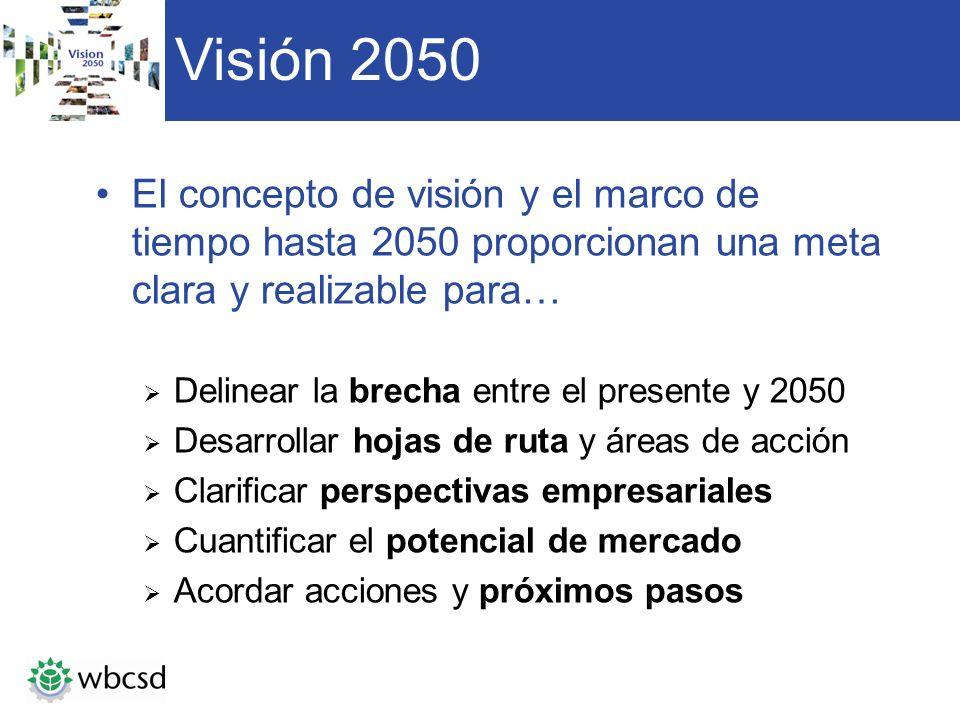 Visión 2050 El concepto de visión y el marco de tiempo hasta 2050 proporcionan una meta clara y realizable para…