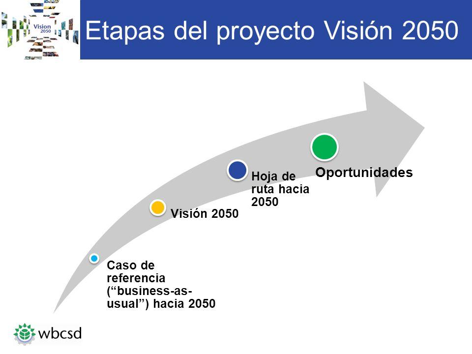 Etapas del proyecto Visión 2050