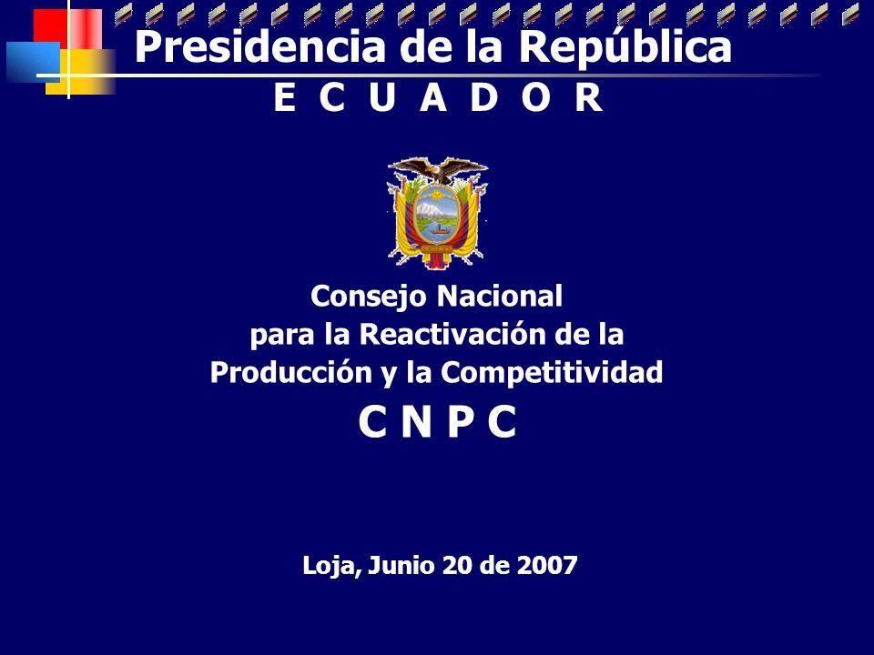 Presidencia de la República C N P C