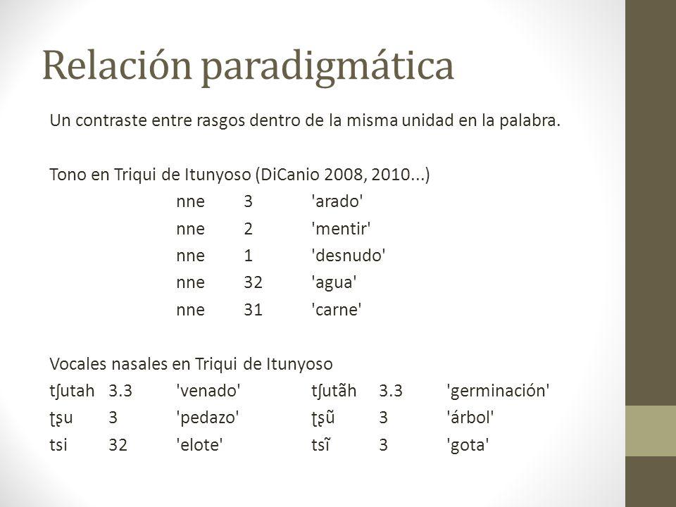 Relación paradigmática