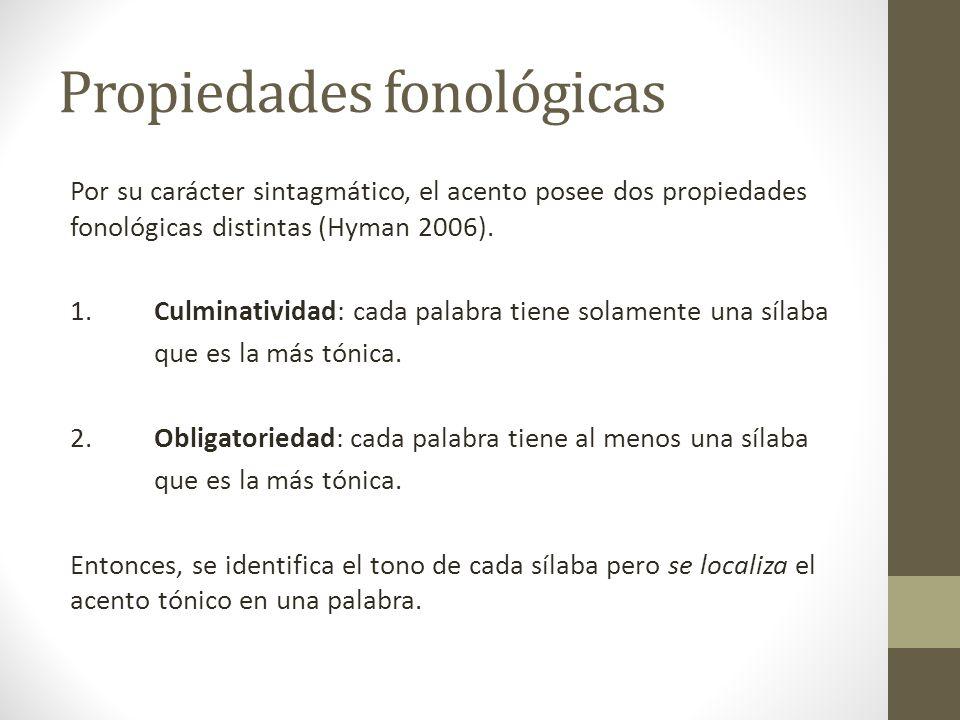 Propiedades fonológicas