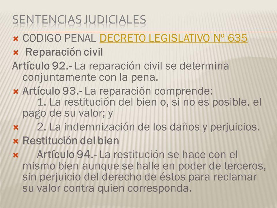 Sentencias Judiciales