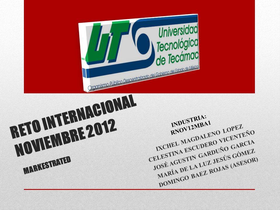 RETO INTERNACIONAL NOVIEMBRE 2012 MARKESTRATED