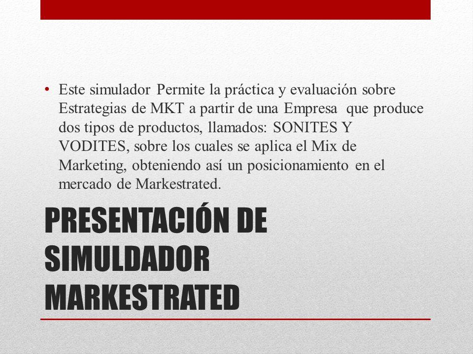 PRESENTACIÓN DE SIMULDADOR MARKESTRATED