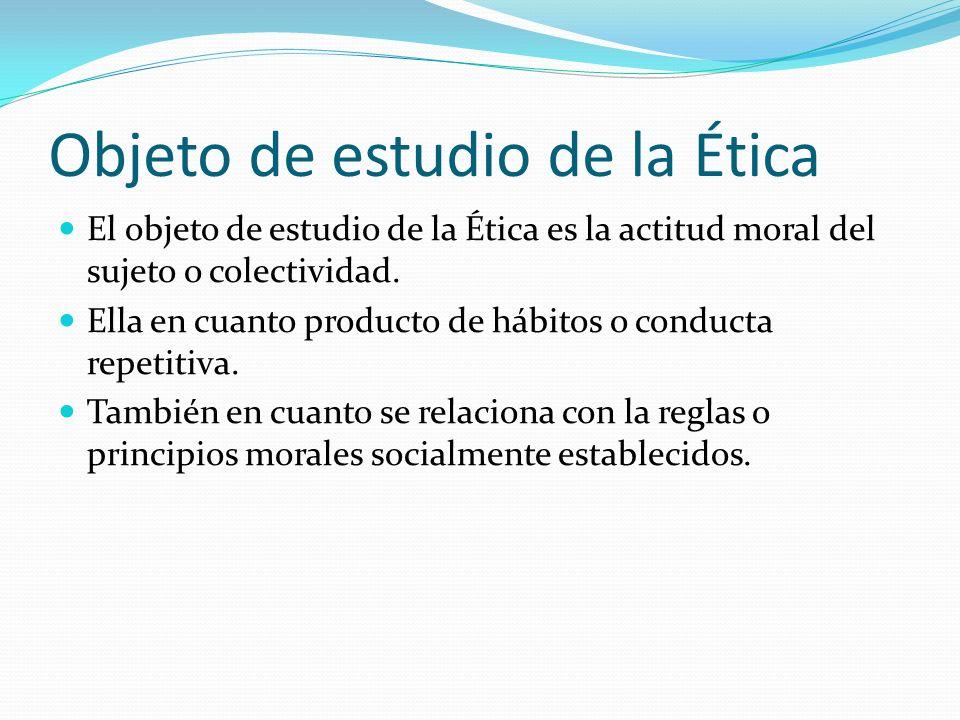 Objeto de estudio de la Ética
