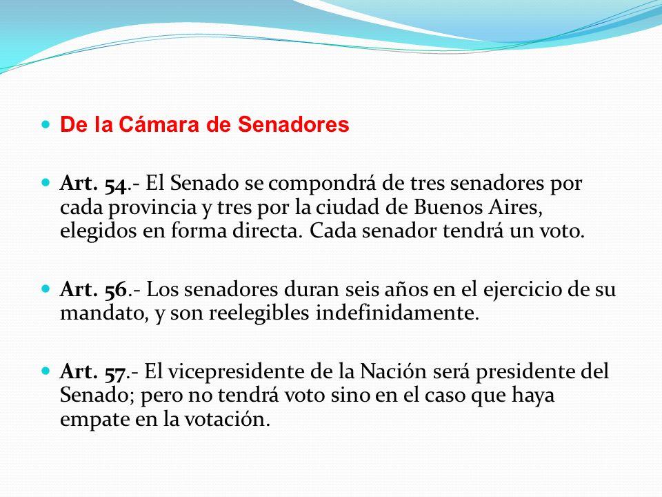 De la Cámara de Senadores