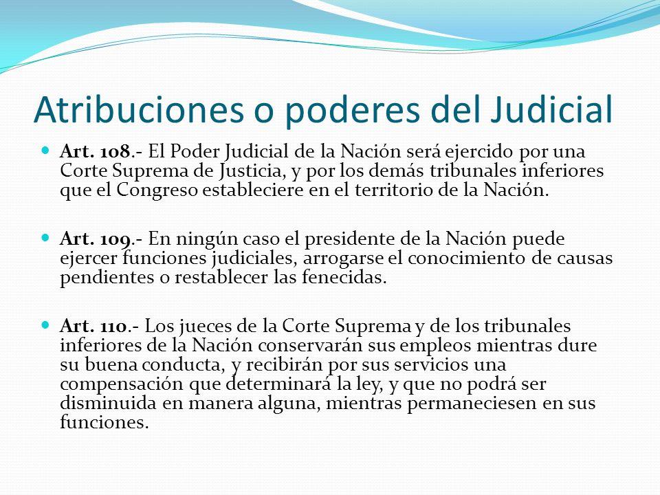 Atribuciones o poderes del Judicial