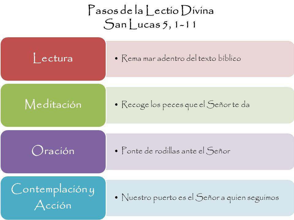 Pasos de la Lectio Divina San Lucas 5, 1-11