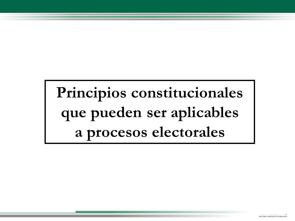 Principios constitucionales que pueden ser aplicables