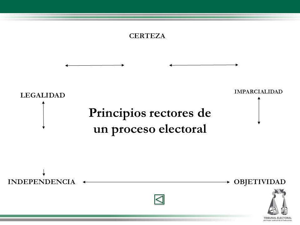 Principios rectores de un proceso electoral