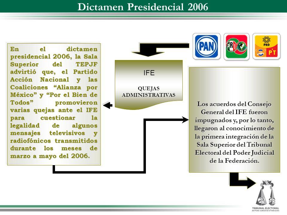 Dictamen Presidencial 2006
