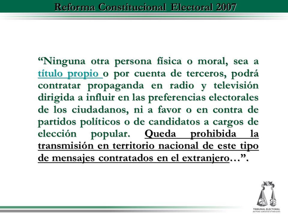 Reforma Constitucional Electoral 2007