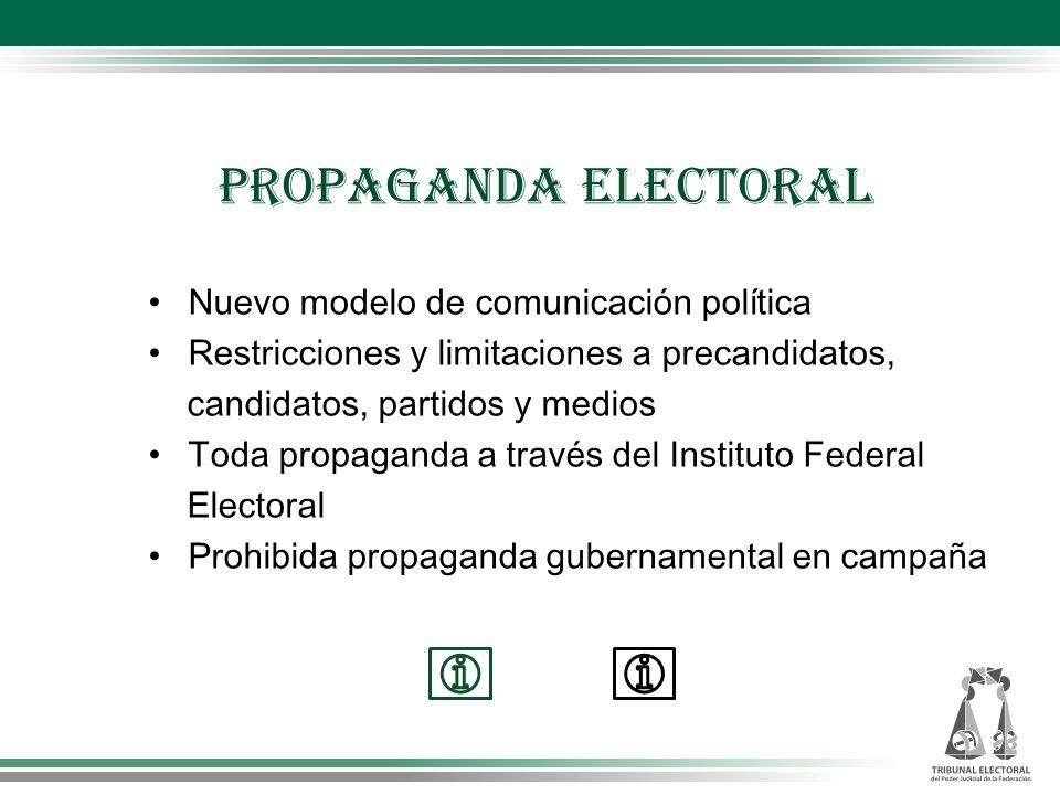 PROPAGANDA ELECTORAL Nuevo modelo de comunicación política