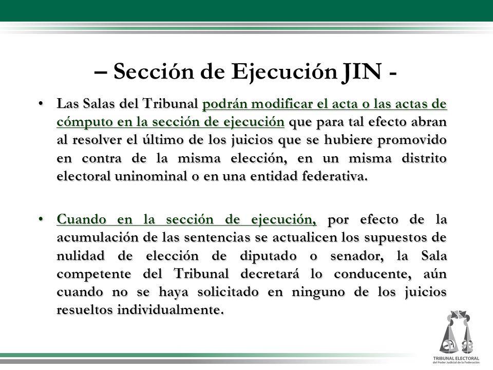 – Sección de Ejecución JIN -