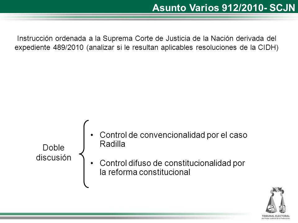 Asunto Varios 912/2010- SCJN