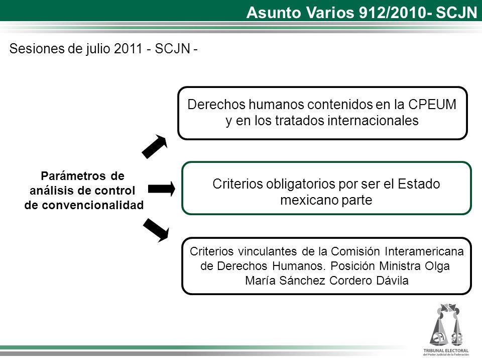 Asunto Varios 912/2010- SCJN Sesiones de julio 2011 - SCJN -