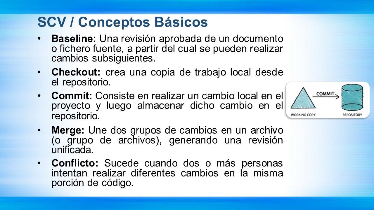 SCV / Conceptos Básicos