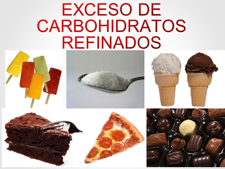 EXCESO DE CARBOHIDRATOS REFINADOS