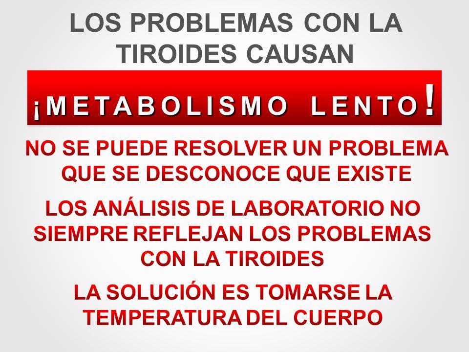 LOS PROBLEMAS CON LA TIROIDES CAUSAN
