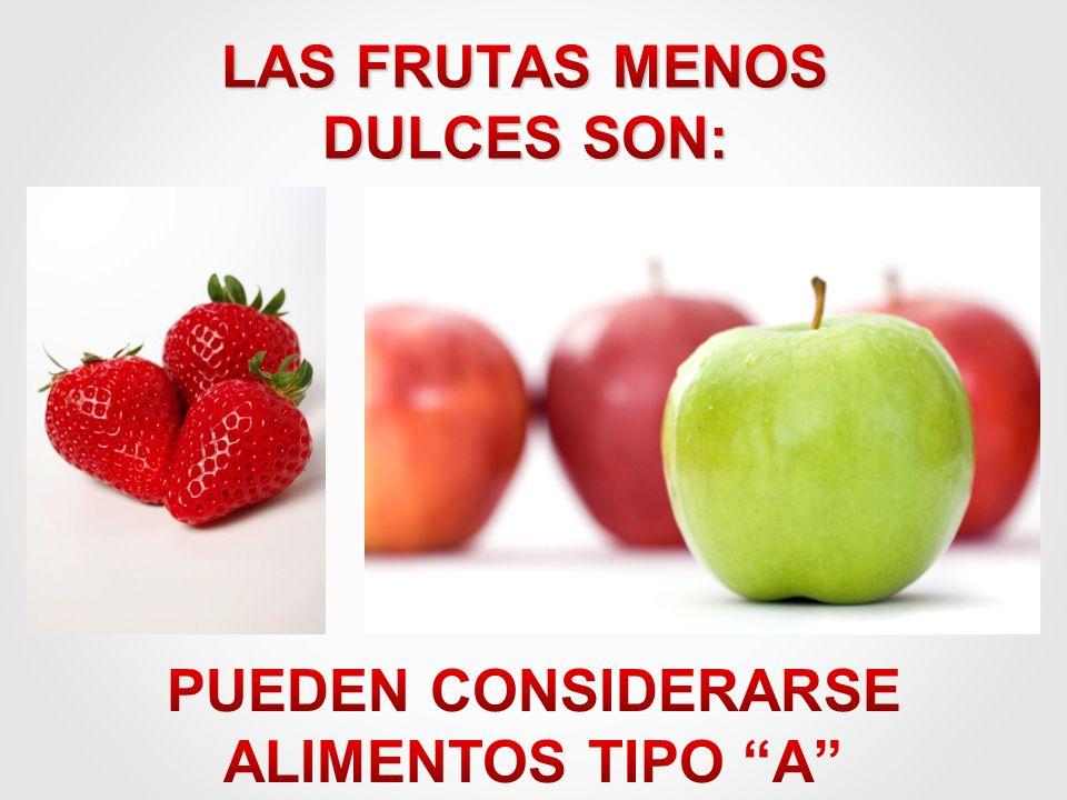 LAS FRUTAS MENOS DULCES SON: