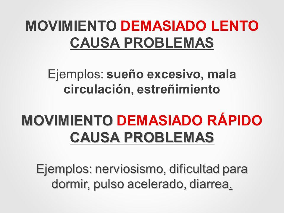 MOVIMIENTO DEMASIADO LENTO CAUSA PROBLEMAS