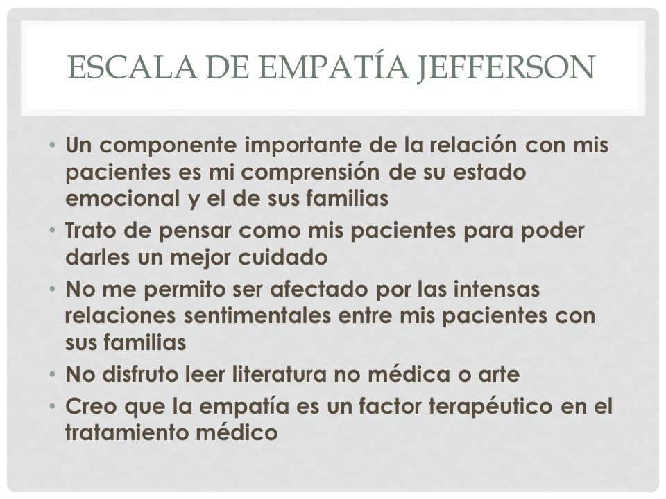 Escala de empatía Jefferson