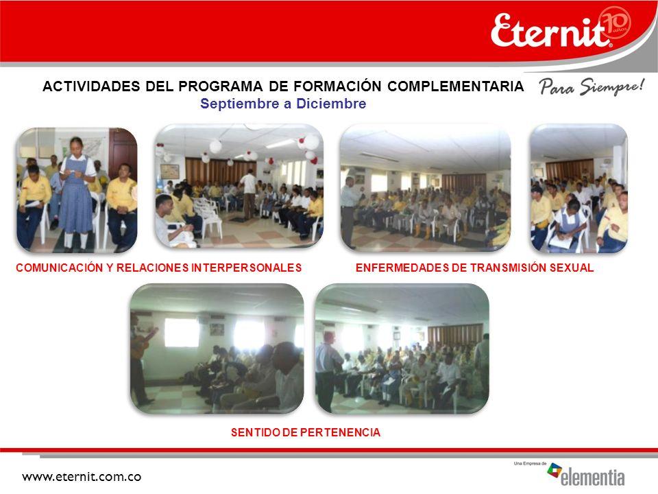 ACTIVIDADES DEL PROGRAMA DE FORMACIÓN COMPLEMENTARIA