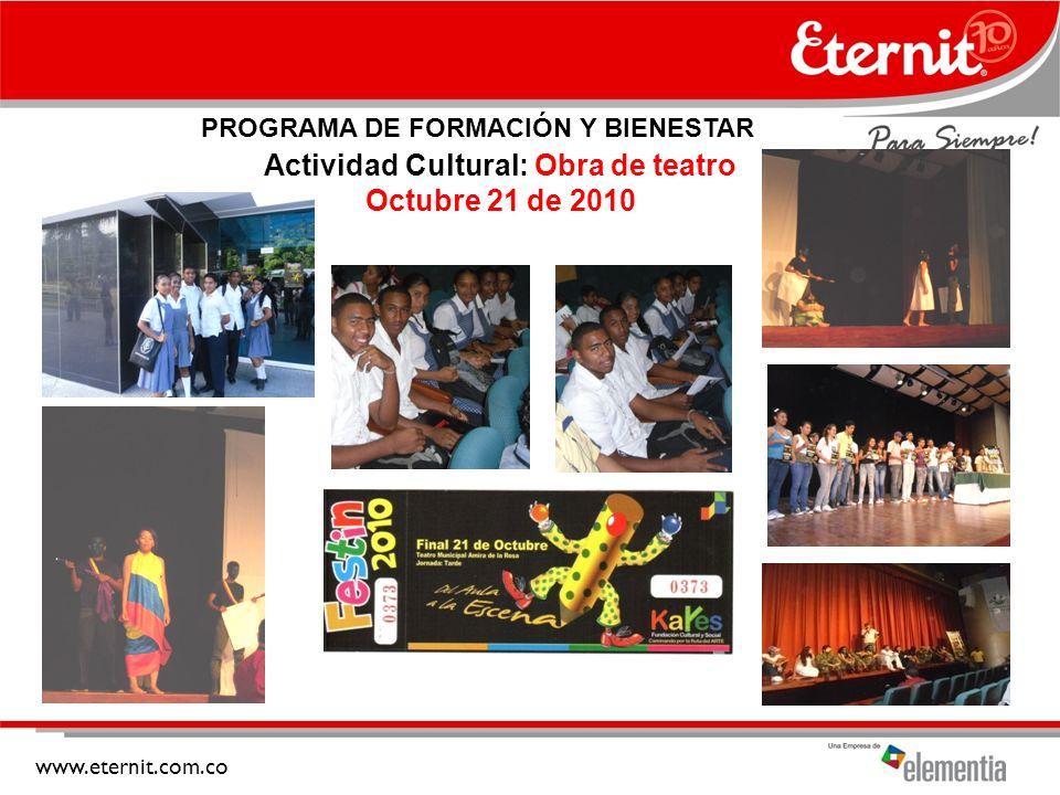 Actividad Cultural: Obra de teatro