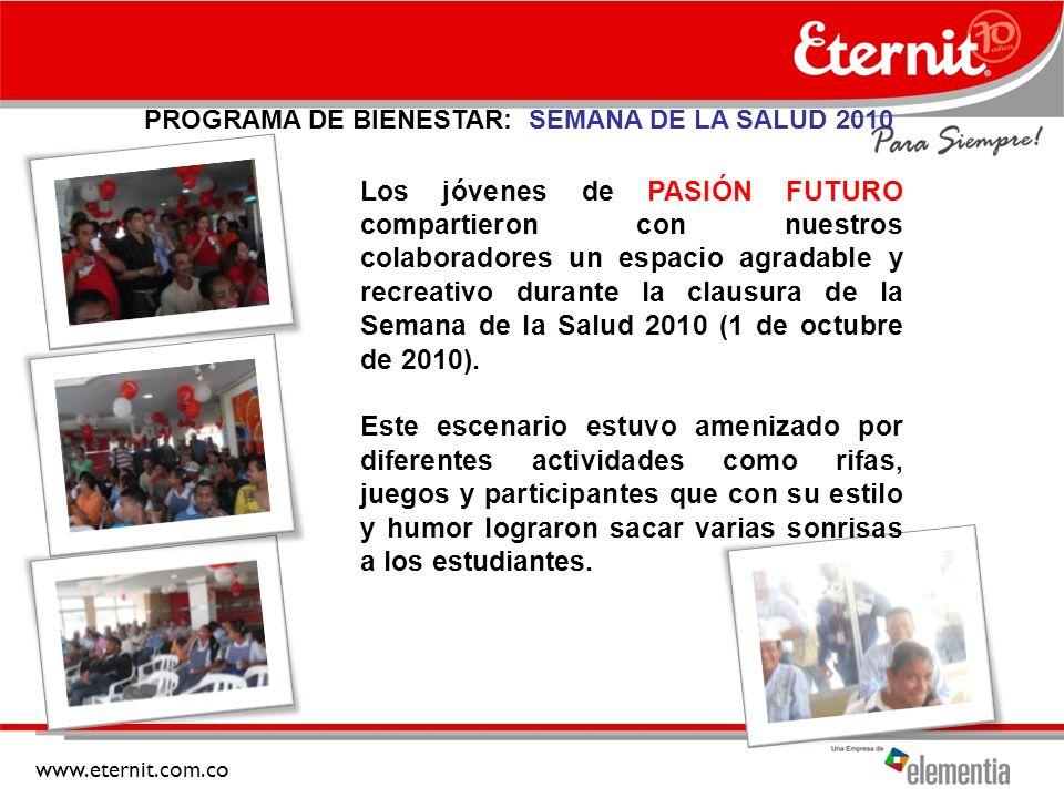 PROGRAMA DE BIENESTAR: SEMANA DE LA SALUD 2010