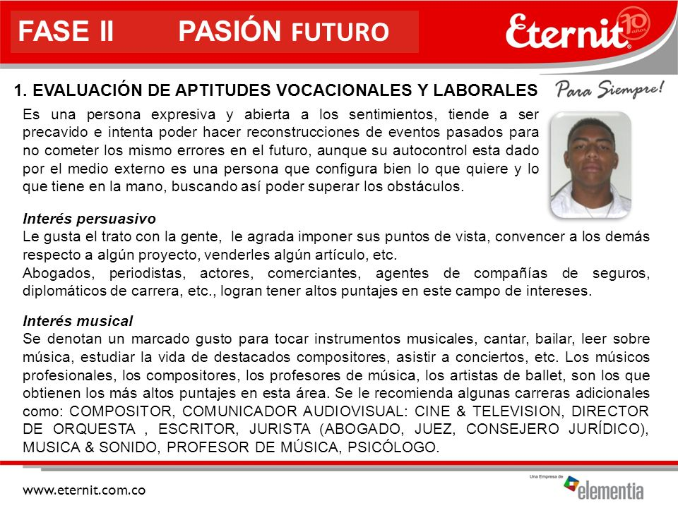 1. EVALUACIÓN DE APTITUDES VOCACIONALES Y LABORALES
