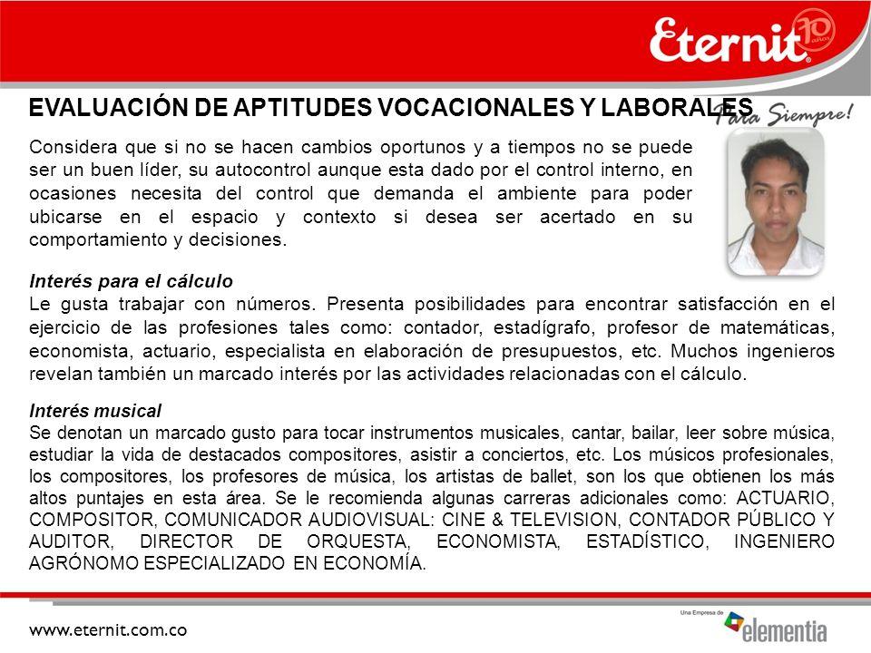 EVALUACIÓN DE APTITUDES VOCACIONALES Y LABORALES