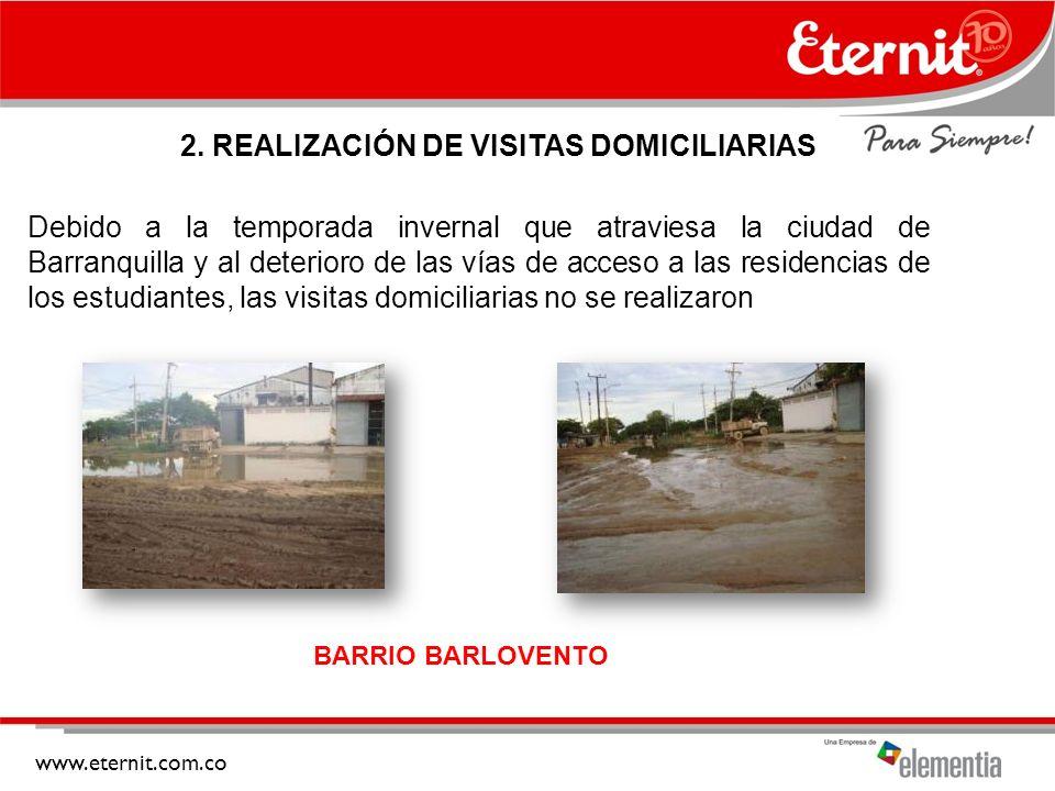 2. REALIZACIÓN DE VISITAS DOMICILIARIAS