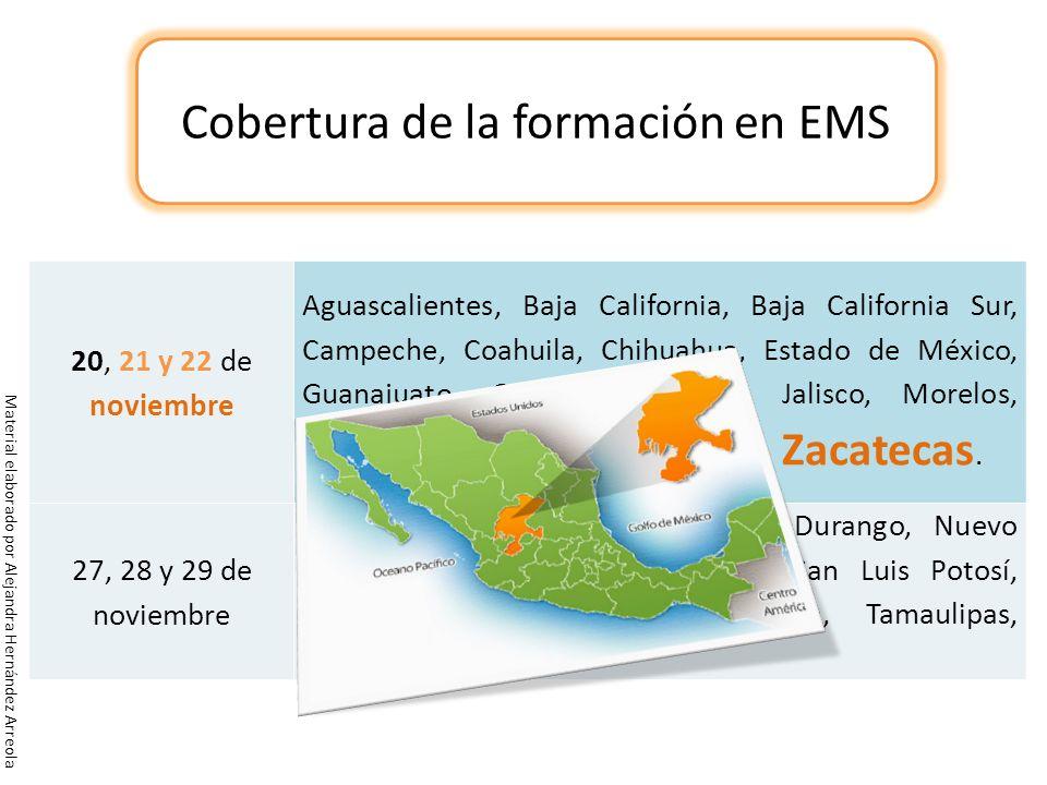 Cobertura de la formación en EMS