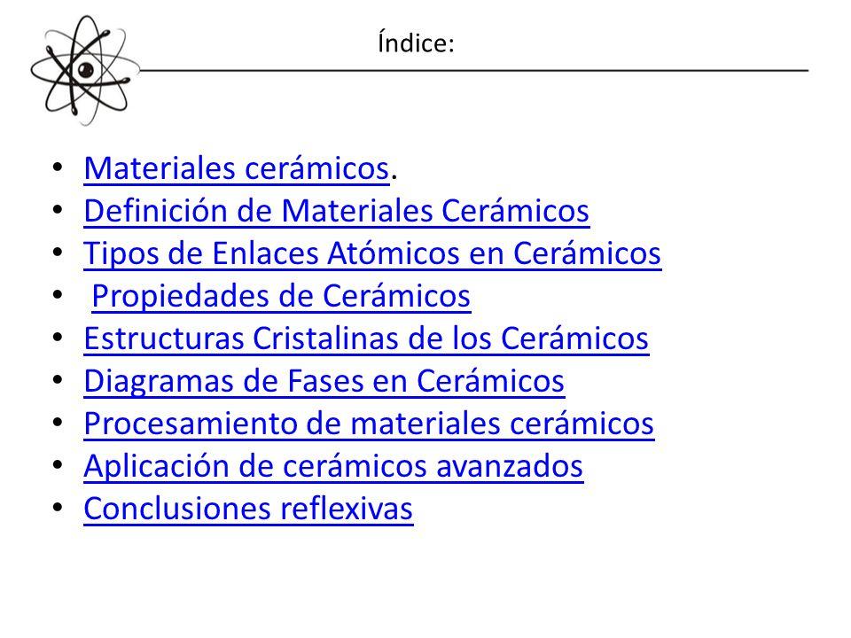 Definición de Materiales Cerámicos