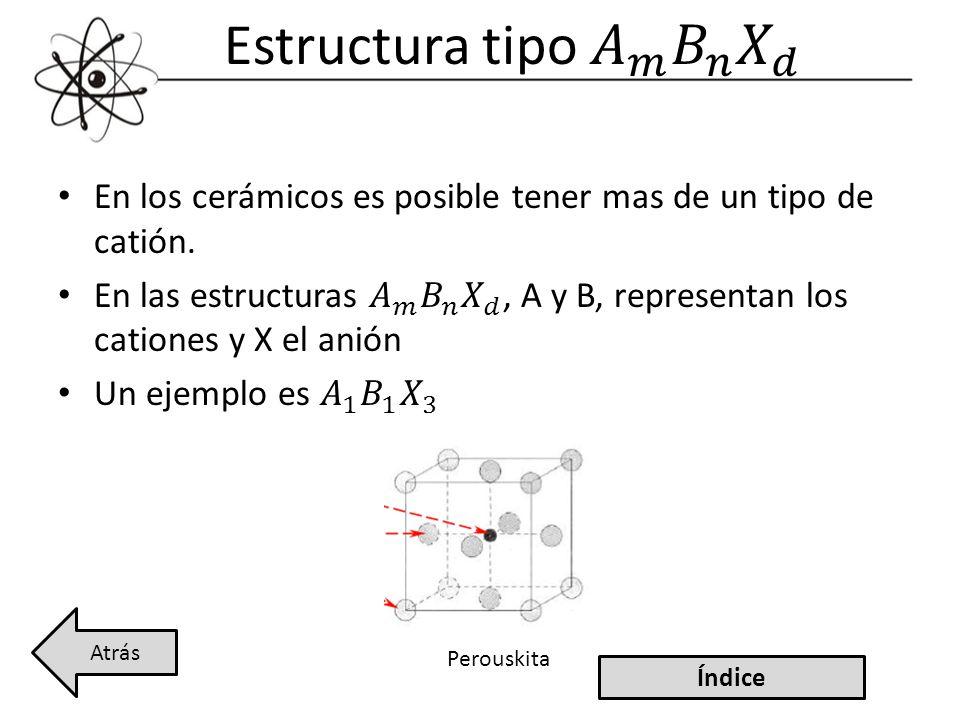Estructura tipo 𝐴 𝑚 𝐵 𝑛 𝑋 𝑑