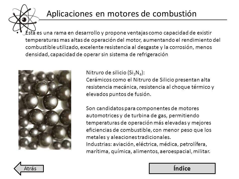Aplicaciones en motores de combustión