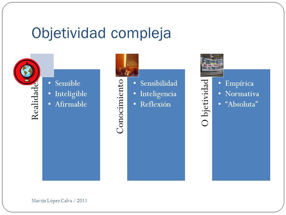 Objetividad compleja Martín López Calva / 2011 Realidades Sensible
