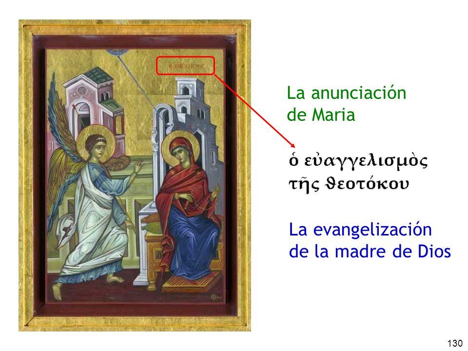 La anunciación de Maria La evangelización de la madre de Dios