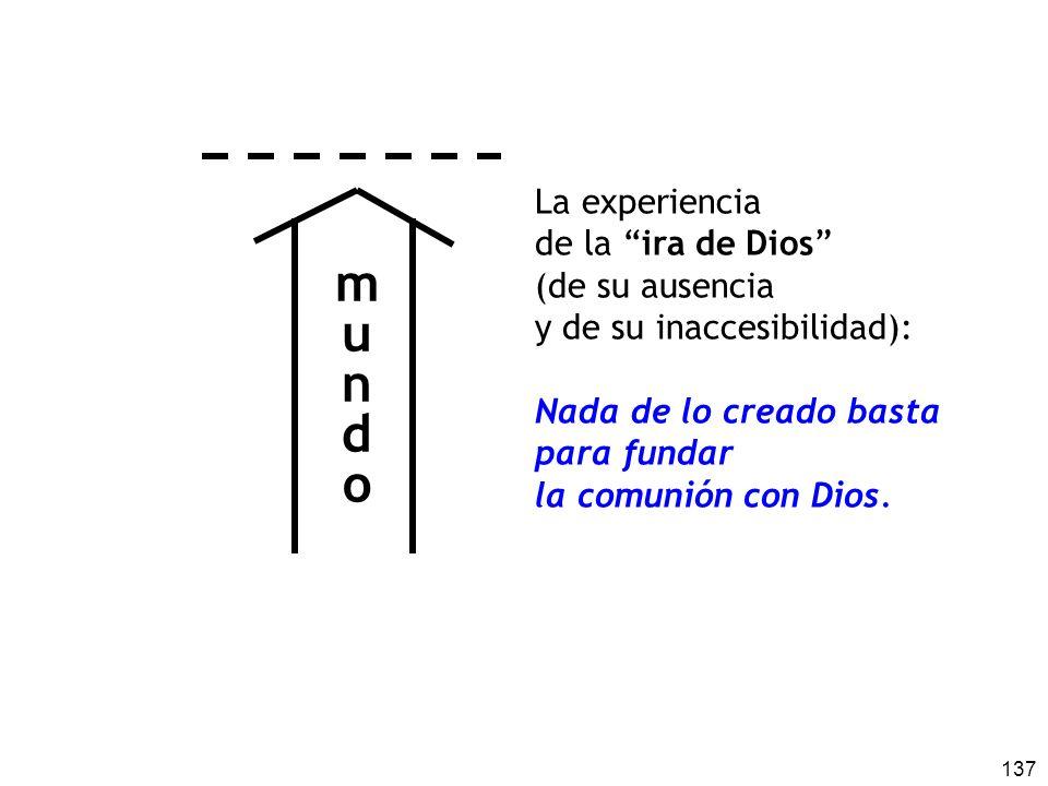 m u n d o La experiencia de la ira de Dios (de su ausencia