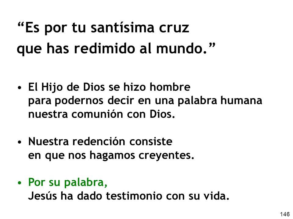 Es por tu santísima cruz que has redimido al mundo.