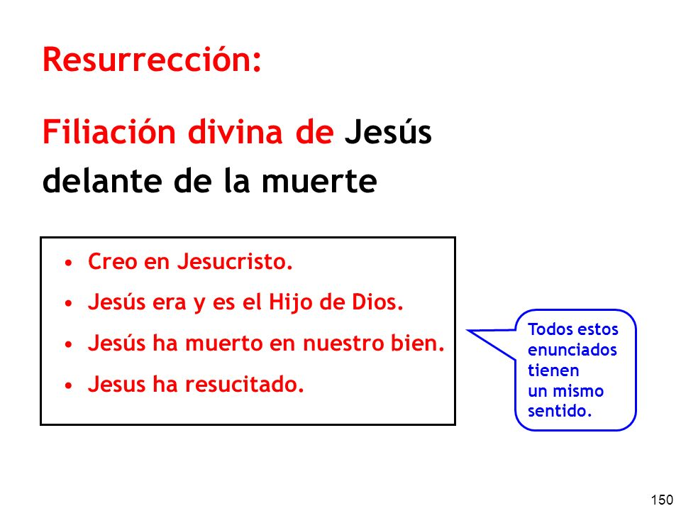Filiación divina de Jesús delante de la muerte