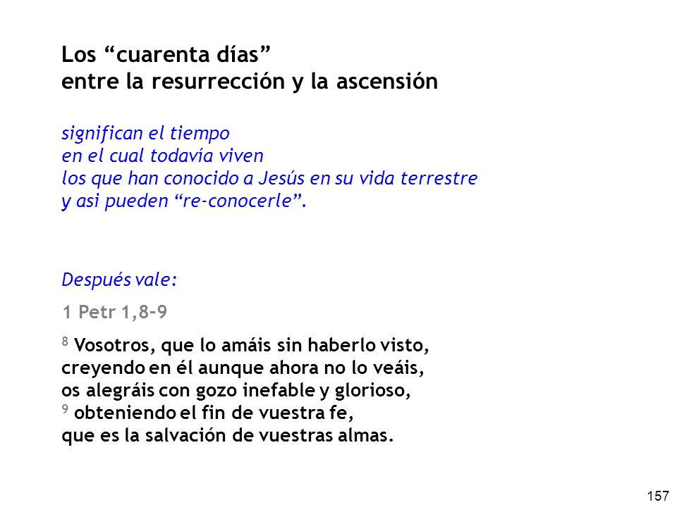 entre la resurrección y la ascensión